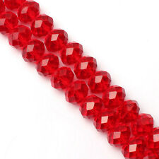 94-100 PCS , 4 X 6 mm Red Crystal Faceted Gemstone Abacus Loose Beads