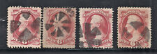 4x Sc 148 6c Rose Carmine With Black Cork Fancy Cancels Sound As Per Scan (NV43)