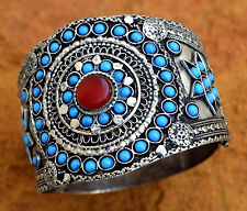 Uzbek Carnelian Bracelet Tribal Turkmen Ethnic Jewelry Afghan Kuchi Bangle Boho