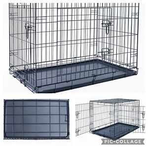 "Dog Crate 36"" Folding Kennel Cage"