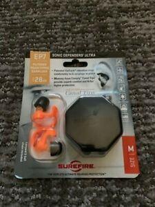 SureFire Sonic Defenders Ultra, Orange, Medium, Earplug-Bag #EP7-OR-MPR