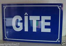 replique plaque de rue GITE / chambre d'hote   /  option PERSONNALISATION + 2 €