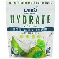 Laird Superfood, Hydrate, Matcha, Coconut Water with Aquamin, 8 oz (227 g)
