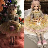 B-Day Geschenk BJD Puppe 1/3 Mädchen Puppen Mit Gesicht Make-up Perücke Kleidung