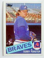 Terry Forster #248 Topps 1985 Baseball Card (Atlanta Braves) VG