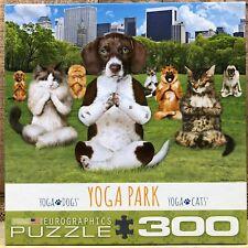 "COMPLETE Eurographics ""Yoga Park"" 300 Piece Jigsaw Puzzle - Cats RARE"