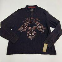 NEW R-Vintage Polo Shirt Mens XXL Rockstar Tour Long Sleeve Casual