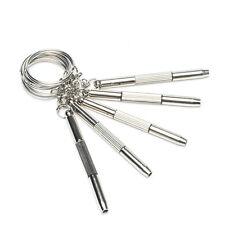5pcs 3In1 Schlüsselanhänger Mini Schraubendreher Schlitz Kreuz Schraubenzieher
