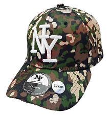Casquette NY New York snapback militaire visière arrondie hip hop neuf