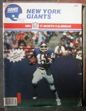 1984 New York Giants Football Team 17-Month Calendar - Lawrence Taylor