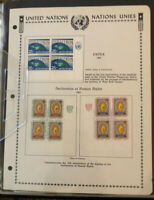 UNITED NATIONS, Excellent MINT NH Stamp Block Collection mounted in Binder