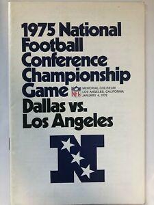 1975 NATIONAL FOOTBALL CONFERENCE CHAMPIONSHIP GAME DALLAS COWBOYS VS. LA RAMS
