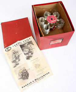 Rare Vtg Barker & Williamson Turret Coil Air Inductors in Box w Instruction NOS