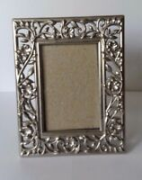 """Small Decorative Ornate Metal Picture Frame Flowers Vines Floral 1 3/4"""" x 2 3/4"""""""
