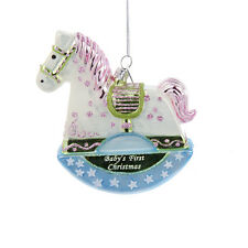 Adorable Glass Christmas Ornament-Baby's First Rocking Horse-Holiday!