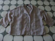 "OSKA ""talida"" Popper Detail Washed Linen Jacket - Size 3 14/16uk RP"