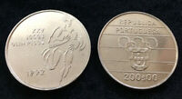 PORTUGAL 200 ESCUDOS 1992 XXV OLYMPIC GAMES COIN UNC