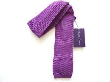 NEU Ralph Lauren Purple Label Italien 100% Seide Orchidee lila Strick Skinny Krawatte