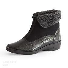 Damen Stiefel mit Lack/Glanz und Reißverschluss