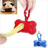 Plastic Pet Dog Waste Poop Bag Dispenser Holder Case Bags Attachable To Leash