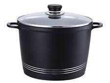 Nea Die-cast Casserole Stockpot With Induction Base - 24cm (5.4L), Black