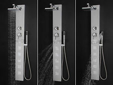 "Bathroom Shower Head Rainfall Panel Tower Massage System Jets 55"" Aluminum Spout"
