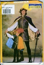 Musketeer/Renaissance Costume - Butterick Sewing Pattern for Boys - XS-L - NEW