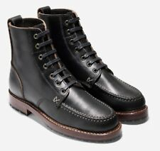 Cole Haan Made in Maine USA x BillyKirk Black Leather Boots Mens Size 8 NEW RARE