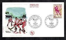 1968 Grenoble Winter Olympics Ice Hockey FDC French Cover Sport Sur Glace