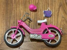 Vintage 1983 Barbie Motor Bike 4856 Set Pink Motorcycle Helmet Backpack Moped