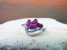 Ringe mit Rubin Edelsteinen synthetisch hergestellte -