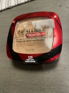 L'OREAL Infallible Foundation In A Powder Fresh Wear 24 Hour Ivory Buff 125 NEW