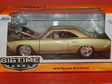 Jada 1/24 Big Time Muscle 1970 Plymouth Road Runner Gold MiB
