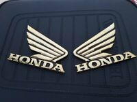 90x70mm Honda Wings Badge Chrome Motorbike Motorcycle Decal Fuel Tank Sticker,