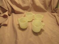 Antique White Carnival Coffe Cups - Set of Four
