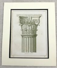 1859 Print Architectural Composite Column Capital Architecture Antique Original