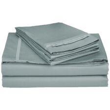 4-pc Full 100% Egyptian Cotton Teal Sheet Set Triple Pleated Hem