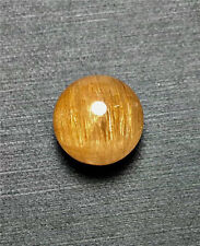 11.5mm AAA Natural Gold Rutilated Quartz Crystal Round Ball Pendant