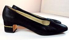 Salvatore Ferragamo Heels Womens Size 8 B Pumps with Gold Tone Trim