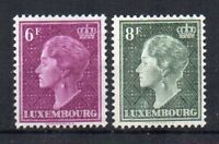 Luxembourg 1949 6f and 8f Grand Duchess Charlotte MLH