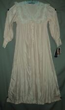 LILY OF FRANCE PEACH COTTON LINED NIGHT GOWN SLEEPWEAR #290