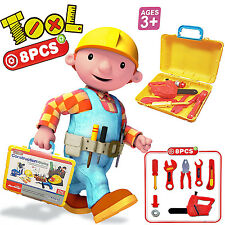 KIDS BUILDER DIY TOOLS SET ROLE PLAY TOY HAMMER CARRY CASE BOYS DRILL XMAS GIFT