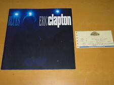 ERIC CLAPTON - 1993 ROYAL ALBERT HALL TOUR PROGRAMME & TICKET STUB    (PROMO)