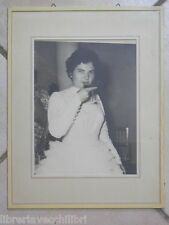 Old Photo of Bride that toasts WEDDING CHALICE Wedding Dress in Dress