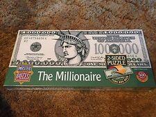 "The Millionaire 2-Sided 500pc Jigsaw Puzzle Million Dollar Bill. 12""x36"". NEW!"