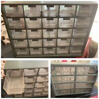 Vintage Tool Box Nail Holder With Drawers 11.5x9