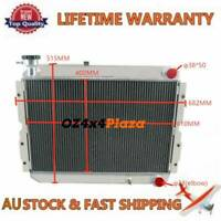 3Row Aluminum Radiator For Toyota Landcruiser 60 Series HJ60/HJ62/HJ61 MT 62mm