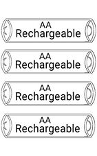 4 Pcs AA 1.2V Ni-MH Rechargeable Battery Cell New