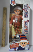 "San Francisco 49ers NFL TEAM elves Logo Elf Christmas 9"" Forever Christmas Shelf"