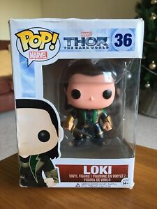 LOKI FIGURE #36 FUNKO POP! VINYL THOR THE DARK WORLD SERIES COMBINED P&P